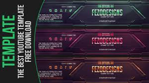 Best Youtube Banner The Best Youtube Banner Template Fezodesigns Free Download Youtube