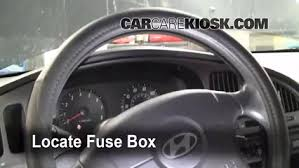 interior fuse box location 2004 2009 kia spectra 2005 kia locate interior fuse box and remove cover