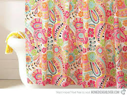 bright colors shower curtain paisley daze colored fabric curtains