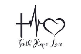 I thought this would look great with gold foil on a black tote. Faith Hope Love Svg Cut File By Creative Fabrica Crafts Creative Fabrica
