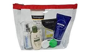impecgear clear cosmetic makeup pouch tsa air travel toiletry bag set with zipper vinyl pvc