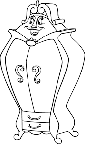 43 best Disney Beauty and the Beast Coloring Pages images on ...
