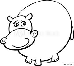 Hippopotamus Cartoon Coloring Page Buy This Stock Vector And