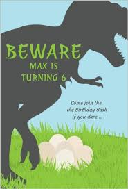 Dinosaur Birthday Invitation Trex Dinosaur Birthday Party Invitation