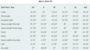 Men S Sweater Size Chart Slim Fit Shirt Size Chart Www Bedowntowndaytona Com