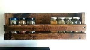 Wooden Spice Rack Wall Mount Custom Wooden Wall Mounted Spice Racks Wall Mounted Wooden Spice Rack Wall
