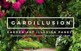 garden archways. Gardillusions Are Beautiful Six By Three Feet Garden Archways, Printed Onto Durable, Weatherproof Materials. These Versatile Illusion Panels Expand Spaces, Archways