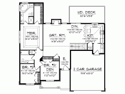 Single floor house plan: add patio in backyard nook, add deck to master  bedroom