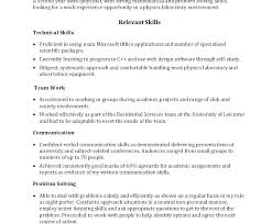 Abilities In Resume Resume Examples For Skills What To Put In A Resume On For Skills And