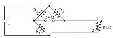 electrical circuits for rtds electrical diagram of a two wire rtd connected to a wheatstone bridge circuit