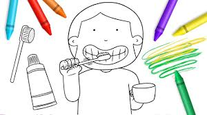 brushing teeth drawing. Plain Brushing Drawing U0026 Painting For Kids  Brush Your Teeth Coloring Pages Colors  Children From Color World On Brushing S