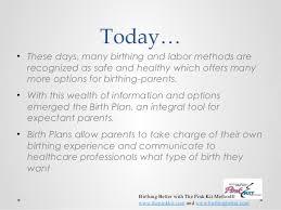 Different Birth Plan Options Birth Plan 1 And 2