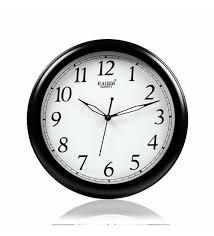 office wall clock. Plain Clock Black Wooden 11 Inch Round Office Wall Clock By Kaiser Inside