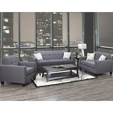 living room furniture. 3300 Fabric 3-Piece Living Room Set In Grey Furniture