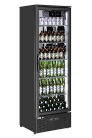 Glas Flaschen Kühlschrank Weinkühlschrank Bar 293 Liter Schwarz Hendi Gastro Neu