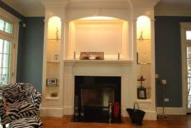 tall narrow built in bookcase with light around fireplace idea 15 inspiring designs ideas of