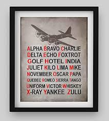 Featuring all the alphabet codes for flight with a black airplane illustration at the top, this tin sign will be a pilot's absolute favorite addition to a favorite room. Amazon Com Alpha Bravo Charlie Military Alphabet Wall Art Print 8 X 10 Retro Military Wall Decor Image Ready To Frame Nato Phonetic Alphabet Home Office Decor Perfect Gift For Man Cave Garage Bar School Handmade