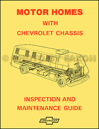 chevy gmc g van wiring diagram original 1974 chevrolet motor home chassis owner s manual reprint