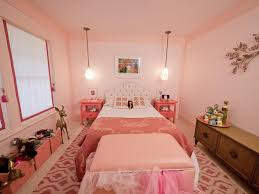 Image Paint Colors Girly Retroinspired Pink Bedroom Hgtvcom Girly Retroinspired Pink Bedroom Hgtv