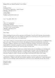 Cover Letter For Teaching Position In College Application Letter For