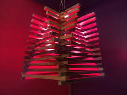 picture of unique and easy to make handmade wooden sticks pendant lamp