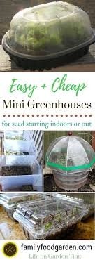 ideas for mini greenhouse for diy garden ideas and seed starting