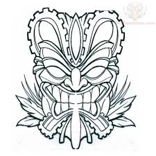 Small Picture Sheets Tiki Mask Coloring Pages 79 For Your Line Drawings with