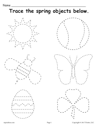 Spring Tracing Worksheet free printable spring themed tracing worksheet! on complete subject worksheets
