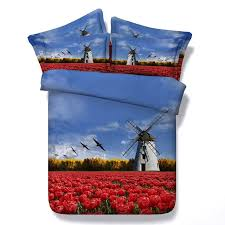 beautiful windmill and fl print 3d design french country chic twin full queen king size bedding sets