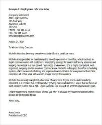 Sample Recommendation Letter From Employer 9 Free Documents In With