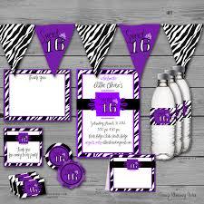 Leopard Print Party Decorations Purple Zebra Print Birthday Party Supplies Party Supplies