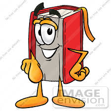 Free Educational Cartoons Clip Art Graphic Of A Book Cartoon Character Pointing At The