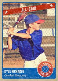 Size Of A Baseball Card Photography Photo Card Template Retro Sports Baseball Card