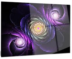 fractal purple flowers digital art