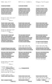 "multiple authorship and intermedia revision scholarly editing figure 5 side by side comparison of the poem ""cancao verde"