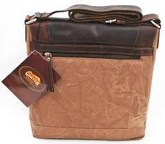 details about canyon outback ringtail canyon leather and canvas messenger bag brown 12