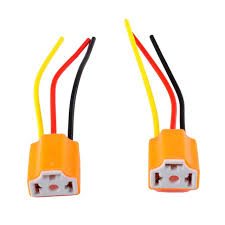 new2pcs 9003 h4 h7 led ceramic wire wiring harness connector sockets new2pcs 9003 h4 h7 led ceramic wire wiring harness connector sockets bulb pigtail plug h4 h7