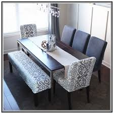 dining room table with upholstered bench. Dining Room Upholstered Bench Wit Rectangular Table And 5 Chairs: Full Size With L