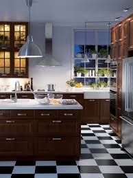 White Floor Kitchen Black And White Kitchen Floors All About Kitchen Photo Ideas