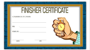 Fun Run Certificate Template Finisher Certificate Paddle At The Point