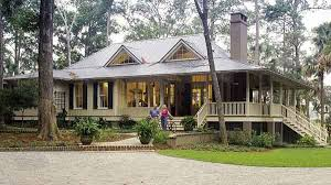 Southern Living House Plans   Tidewater Low Country House PlansSheltered by deep overhangs and a wraparound porch  Tideland Haven is detailed in comfort