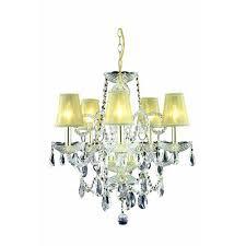 elegant lighting princeton gold five light chandelier with clear royal cut crystal