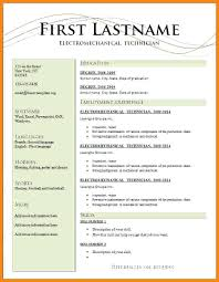 Simple Resume Format Word File Free Download Template In Templates