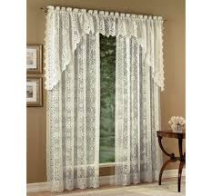 Lace Window Treatments Ivory Cream Jacquard Lace Curtain Panel