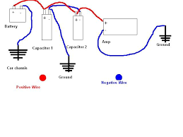 connecting two capacitors to one amp general car a v discussion does
