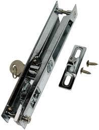 keyed home sliding glass patio door lock key 2 keys security no handle hardware