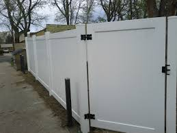 white fence ideas. White Vinyl Fence Panels Funky Decorative Ideas - Somats.com L