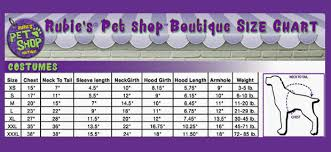Rubies Dog Costume Size Chart Rubies Cave Girl Dog Costume