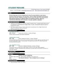 college student resume samples and examples how to write a resume for a college student