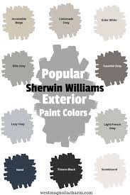 Popular Sherwin Williams Exterior Paint Colors West